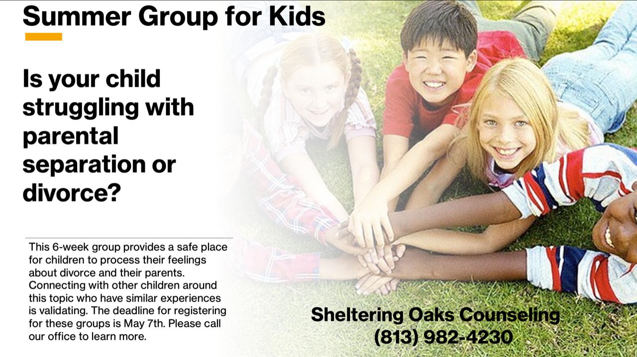 kids group || Sheltering Oaks Counseling || Wesley Chapel, FL